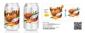 椰子灌装标签设计