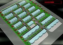 园林规划3d模型鸟瞰图