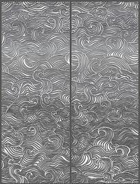 现代简约黑白花纹移门图案