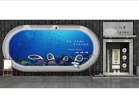 鱼类火锅店面门头3d模型设计(带PS文件)