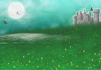 草原飞鹰城堡 2d游戏场景