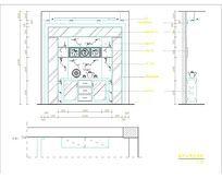 客厅背景立面图CAD