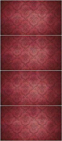 红色古典大气欧美花纹视频背景