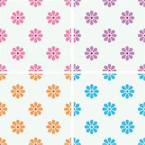 花朵連續圖形紋樣