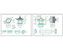 亭子设计施工图CAD