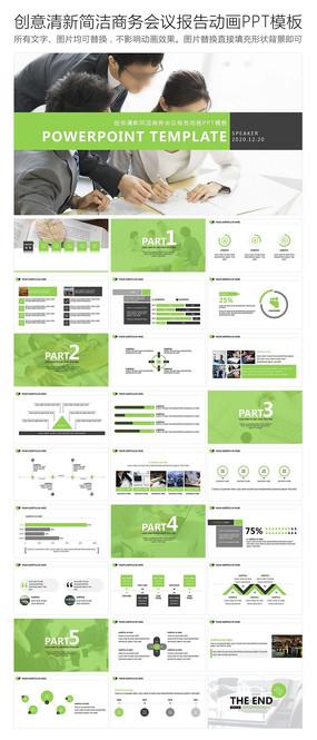 商务会议报告动画PPT模板