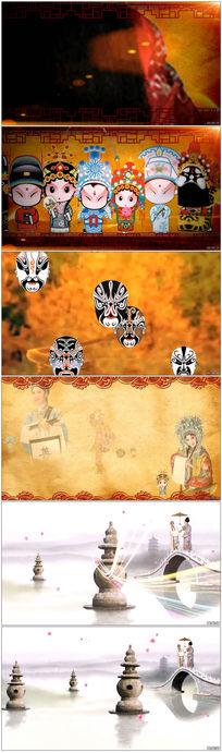 中国戏曲舞台演出背景视频