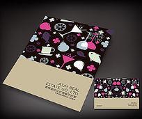创意剪影西餐厅画册封面设计