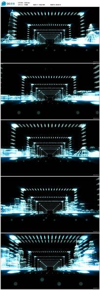 拱门光门灯光秀LED大屏幕背景视频素材