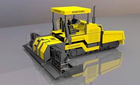工程机具摊铺机3d模型