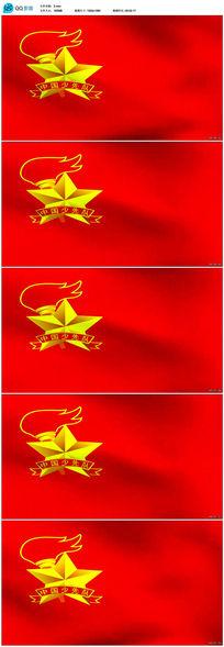 中国少先队队旗飘扬高清视频素材