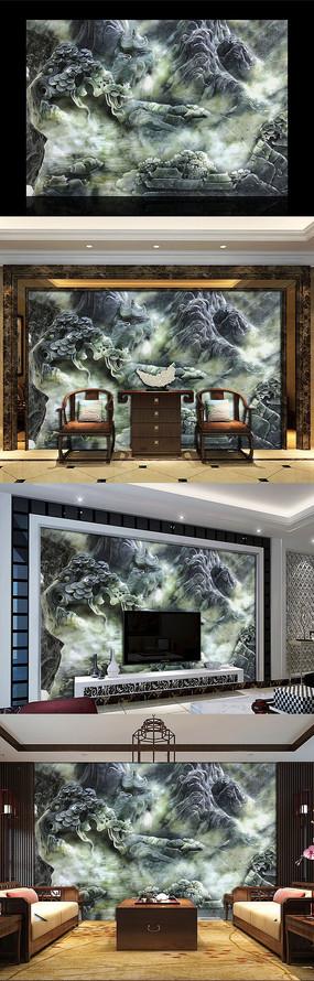 酒店大厅背景装饰墙