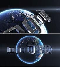 3D立体文字logo新闻片头模板