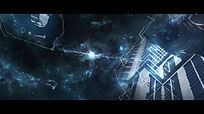 3d宇宙星空图文视频展示logo开场ae模板
