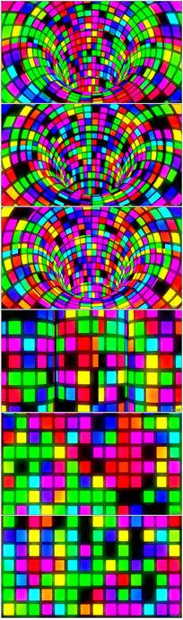 彩色立体三维空间动感LED素材