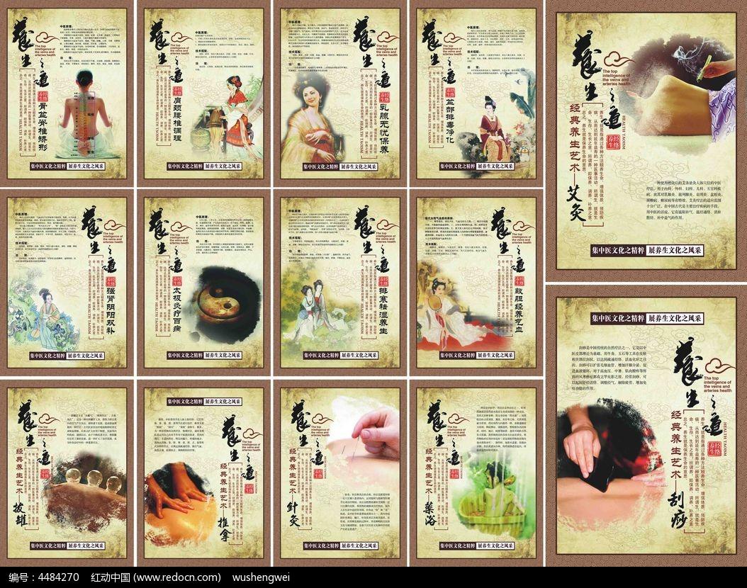 传统中医养生展板设计图片