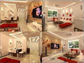 3d客廳渲染效果圖