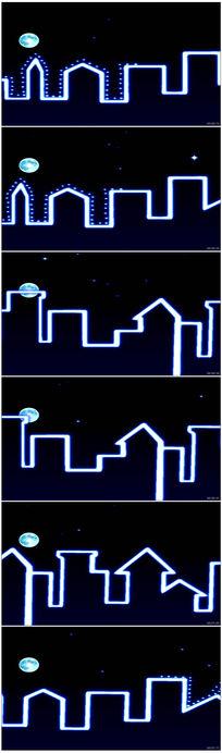 荧光城市科技动感舞台背景LED视频