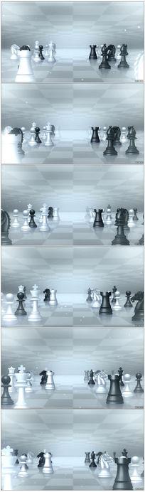 国际象棋立体棋盘比赛智力视频素材vj背景