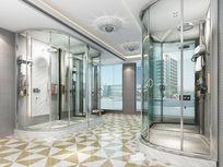 会所淋浴房3d模型下载