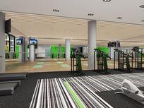 健身房跑步机3d模型下载