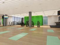 健身房瑜伽区3d模型下载