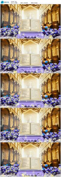 欧式圣经婚礼视频素材