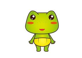穿尿不湿的小青蛙卡通形象