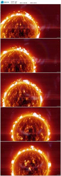 宇宙燃烧视频素材