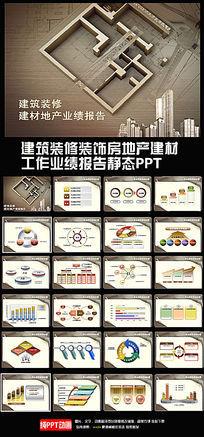 装修装饰公司业绩报告PPT模板