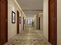 酒店房间走廊3d模型下载