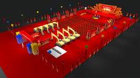 开工仪式舞台3d模型