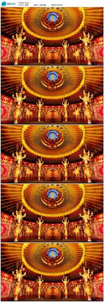 蒙古包帐篷金顶大帐视频素材