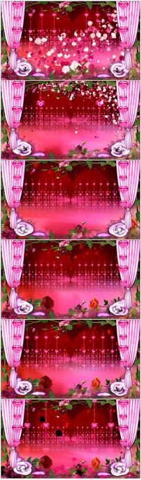绚丽粉红色珠帘背景视频