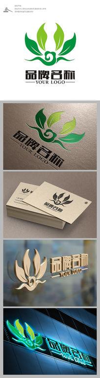 绿色植物行业茶LOGO设计
