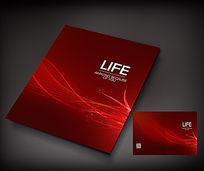 红色画册封面图片