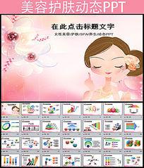 美容养生化妆品ppt动态模板