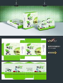 绿色普洱茶包装盒设计
