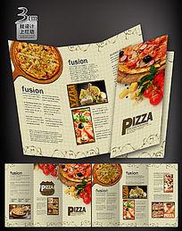 时尚披萨折页设计