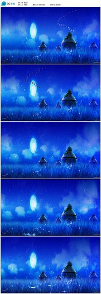 唯美月色蒙古包视频素材