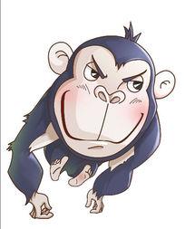 原创猩猩卡通形象设计