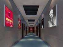 戒毒所展示走廊3d模型