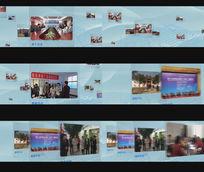 透明玻璃图片视频AE素材模板