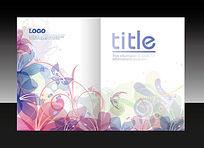 花纹图案彩色画册封面设计