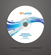 蓝色线条科技光盘封面素材