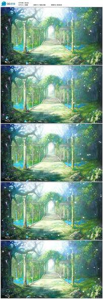 梦幻仙境森系婚礼欧式宫殿拱门led背景