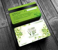 绿色美容美发会员卡设计