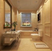 欧式别墅卫生间3d模型下载