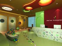 幼儿园前台接待区3d模型下载