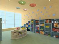 幼儿园图书阅览室3d模型下载